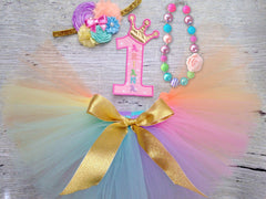 Pastel Rainbow Chunky Necklace