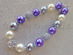 BLOWOUT Purple and Silver Chunky Necklace