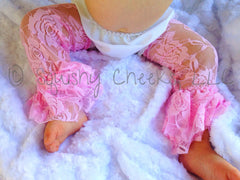 Ruffled Lace Leg Warmers - PICK YOUR COLOR