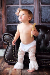 White Lace Leg Warmers