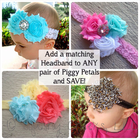 SALE - Add a Shabby Flower Headband to my Piggy Petal Order