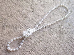Glass Pearl Necklace - White or Ivory (High Quality)