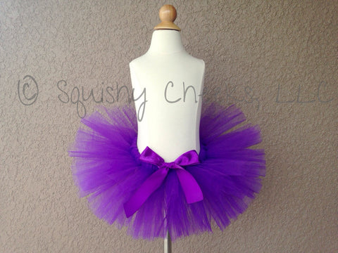 Royal Purple Poofy Tutu with Satin Bow