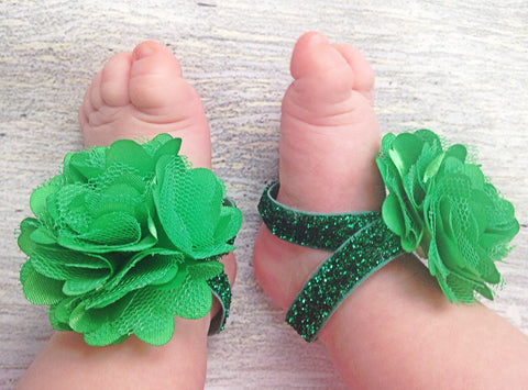 Green Sparkle St. Patrick's Day Piggy Petals