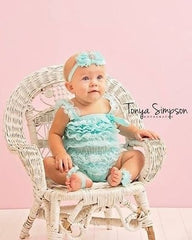 BLOWOUT Aqua Lace Romper