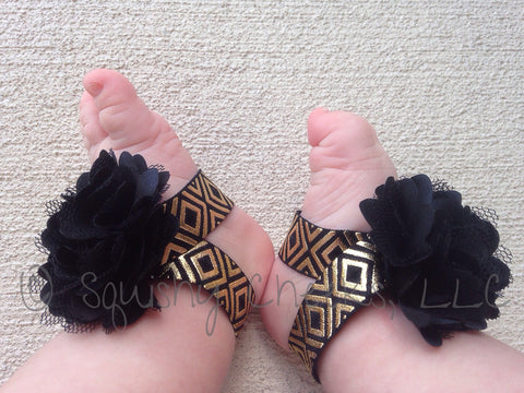 Black and Gold Aztec Piggy Petals