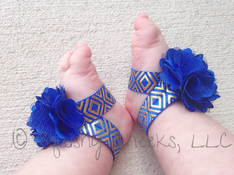 Royal Blue and Gold Aztec Piggy Petals