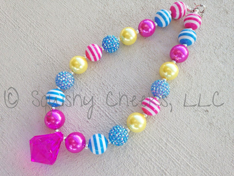 BLOWOUT Pink, Blue & Yellow Necklace