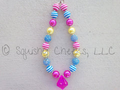 Pink, Blue & Yellow Necklace