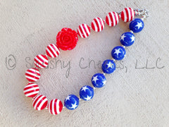Red, White, and Blue Chunky Necklace