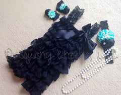 Breakfast at Tiffany's Lace Romper Outfit