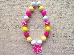 BLOWOUT Pink Lemonade Chunky Necklace