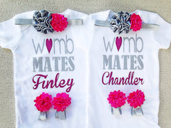 Personalized Twin Womb Mates Outfits