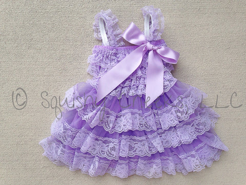 BLOWOUT Lavender Ruffled Lace Dress
