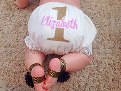 Customized Birthday Diaper Cover