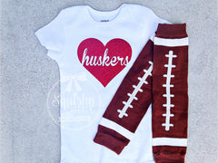 Little Girl Football Outfit, Sparkly Football Outfit, Over 40 Colors, Baby Girl Football Outfit, Bodysuit, Leg Warmers, Headband,Sized NB-6T