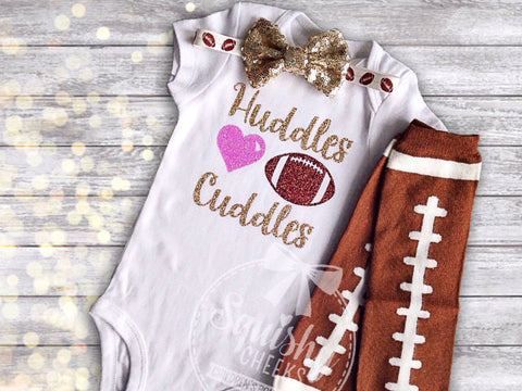 Girl's Huddles and Cuddles Football Outfit