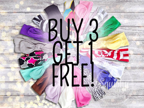 Buy 3 Get 1 Free Knotted Headbands SALE