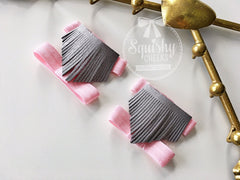 Pink and Grey Fringe Piggy Petals®