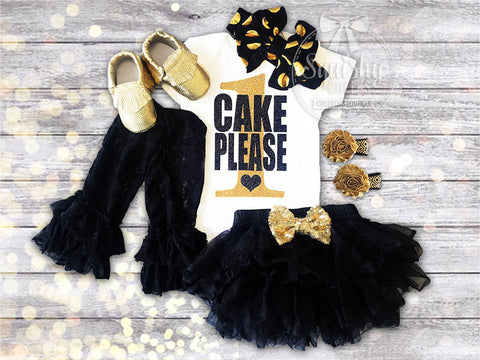 Black and Gold Cake Please Outfit