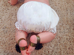 White Cotton Crochet Trim Baby Bloomers