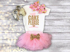 Cake Please Birthday Outfit - 1st-3rd Birthday