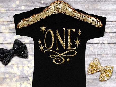 1st Birthday Sparkle Glitter Shirt