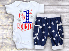 1st 4th of July Boy's Outfit