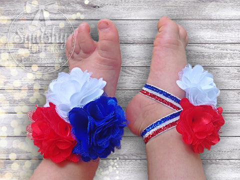 Girl'sPatriotic Piggy Petals