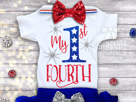 Girl's My 1st Fourth of July Top