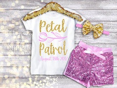 Girl's Personalized Petal Patrol Flower Girl Top