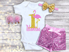 Flamingo Birthday Outfit Available in 1st-6th