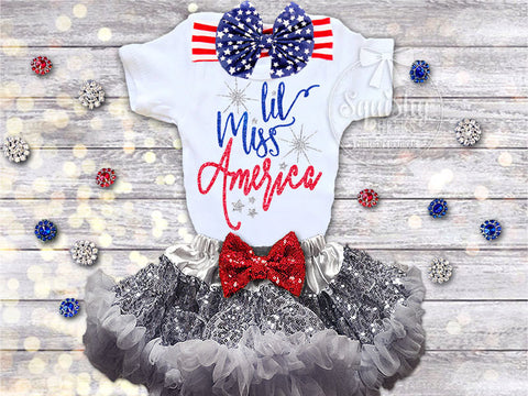 Lil Miss America 4th of July Outfit
