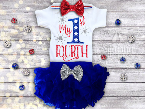 Girl's My 1st Fourth of July Outfit
