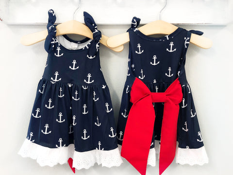 Girl's Nautical Patriotic Dress