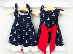 Girl's Nautical Navy Patriotic Dress