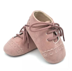 Pink Suede Pre-Walker Baby Shoes