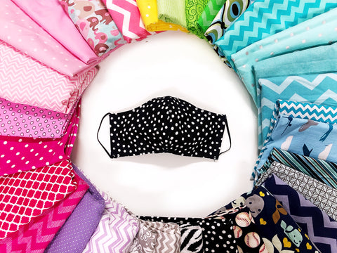Reusable Washable Face Mask with Filter Pocket