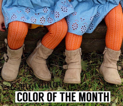 Pumpkin Spice - Color of the Month Tights