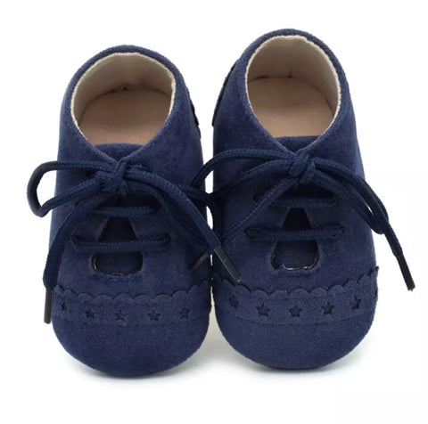 Navy Suede Pre-Walker Baby Shoes