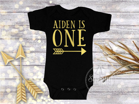 Boy's Personalized Arrow Birthday Top