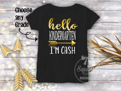 Boy's Personalized Hello Back To School Top
