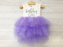 Lavender and Silver Birthday Girl Dress
