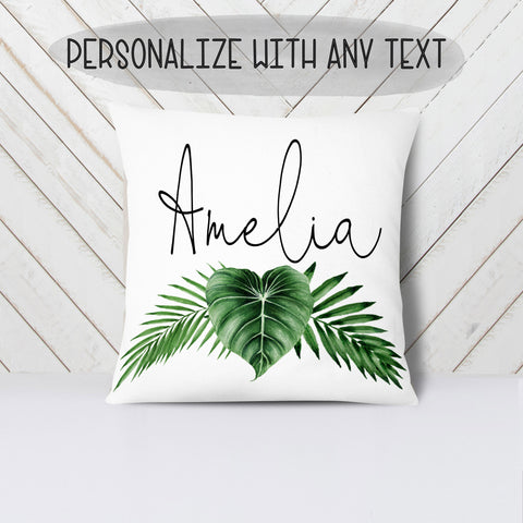 Personalized Leaf Nursery Pillow