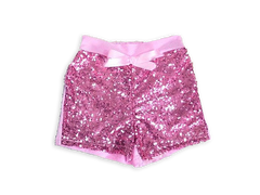 Girl's Light Pink Sequin Shorts