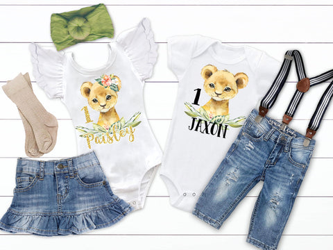 Personalized Lion Birthday Outfit