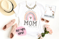 Rainbow Mom Personalized Mother's Day Shirt