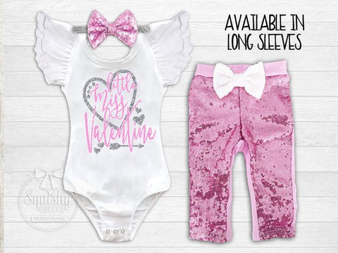 Girl's Little Miss Valentine's Day Outfit