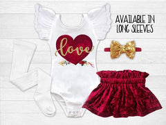 Girl's Love Valentine's Day Outfit