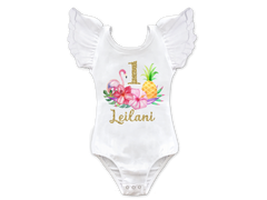 Tropical Luau 1st Birthday Top
